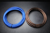 4 GAUGE WIRE 25 FT BLUE 25FT BLACK SHINNY STRANDED POWER GROUND CABLE AMP AWG