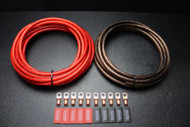 4 GAUGE WIRE 15FT RED 15 FT BLACK SHINNY 10PCS COPPER 5/16 RING HEATSHRINK