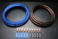 4 GAUGE WIRE 50FT BLUE 50 FT BLACK SHINNY 10PCS COPPER 5/16 RING HEATSHRINK
