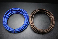 4 GAUGE WIRE 15 FT BLUE 15FT BLACK SUPERFLEX STRANDED POWER GROUND CABLE AMP AWG