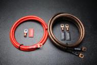 BIG 3 UPGRADE 4 GAUGE WIRE SHINY RED BLACK 3/8 COPPER TERMINLAS W/ HEATSHRINK