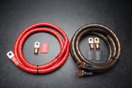 BIG 3 UPGRADE 1/0 GAUGE WIRE SHINY RED BLACK 3/8 COPPER TERMINLAS W/ HEATSHRINK