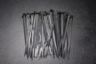 100 PACK 7 INCH ZIP TIES NYLON BLACK 50 LBS UV WEATHER RESISTANT WIRE CABLE BCT7