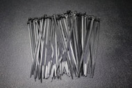 100 PK 8 INCH ZIP TIES NYLON BLACK 40 LBS UV WEATHER RESISTANT WIRE CABLE BCT8