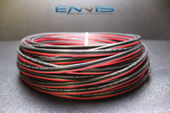 12 GAUGE 100FT RED BLACK ZIP WIRE AWG CABLE POWER GROUND STRANDED COPPER CLAD EE