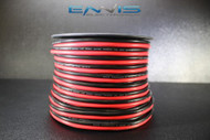 8 GAUGE 100 FT RED BLACK ZIP WIRE AWG CABLE POWER GROUND STRANDED COPPER CLAD EE