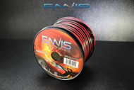 8 GAUGE 100 FT RED BLACK SPEAKER WIRE HOME CAR AWG CABLE STRANDED COPPER CLAD EE