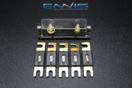 (1) PACK 0 2 4 6 8 GAUGE ANL FUSE HOLDER W/ (5) 60 AMP GOLD WAFER FUSES WIRE