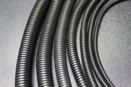 10 FT 1/8 INCH BLACK SPLIT LOOM TUBING CONDUIT POLYETHYLENE CONVOLUTED WIRE