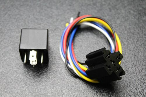 2 Pcs 30  40 Amp Relay Heavy Duty W   Wire Harness 12 Volt 5