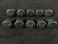 10 PACK ROUND ON OFF ROCKER SWITCH MINI TOGGLE BLUE LED 3/4 MOUNT HOLE EC-1213BL