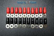 20 PCS 2 GAUGE RING TERMINALS 5/16 HOLE POWER RED BLACK CONNECTOR IB2GNRT