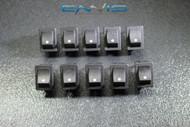 10 PCS MINI ON OFF ROCKER SWITCH 12 V 10 AMP 2 PIN TOGGLE 1/2 3/4 HOLE EC-1210