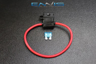(1) 12 GAUGE ATC FUSE HOLDER W/ FUSE IN-LINE AWG WIRE COPPER 12 VOLT BLADE