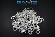 10-12 GAUGE 100 PK UNINSULATED/NON INSULATED RING 3/8 TERMINAL CONNECTOR URY38