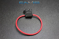 (1) 18 GAUGE ATC FUSE HOLDER IN-LINE AWG WIRE COPPER 12 VOLT BLADE WATERPROOF EE