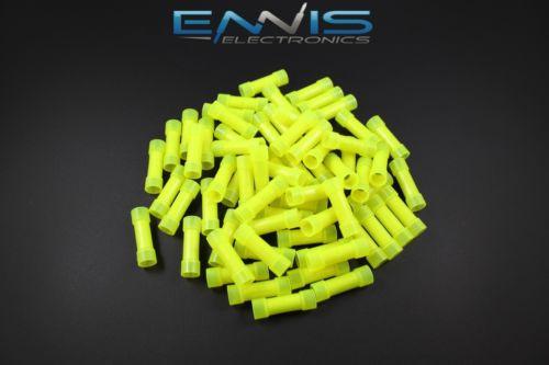 50 Pack  Crimp Terminals Yellow Butt Connectors ..