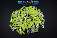 10-12 GAUGE NYLON RING 1/4 CONNECTOR 100 PK WIRING CRIMP TERMINAL AWG CAR SUV
