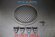 (1) 8 INCH STEEL SPEAKER SUB SUBWOOFER GRILL MESH COVER W/ CLIPS SCREWS GLKT-8