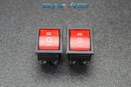 2 PCS ROCKER SWITCH RED DPDT ON OFF ON 15 AMP 250V 20 AMP 125V 6 PIN EC-623