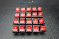 20 PCS ROCKER SWITCH RED DPDT ON OFF ON 15 AMP 250V 20 AMP 125V 6 PIN EC-623
