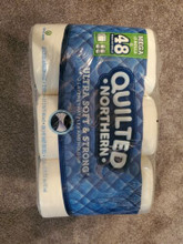 NEW QUILTED NORTHERN 12 ROLLS = 48 MEGA ULTRA SOFT AND STRONG TOILET PAPER