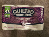 NEW QUILTED NORTHERN 12 ROLLS = 48 MEGA ULTRA PLUS TOILET PAPER TP FAST SHIPPING