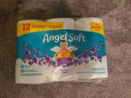 Toilet paper NEW ANGEL SOFT FAMILY ROLLS lavender 12pk 180 SHEETS