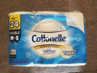 Cottonelle toilet paper 12 double rolls =24 rolls superior clean fast shipping