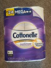6 ROLLS toilet paper conttonelle mega rolls =24 comfort care fast shipping