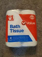 Family dollar bath tissue toilet paper 4 rolls 2 ply 275 sheets perroll fastship