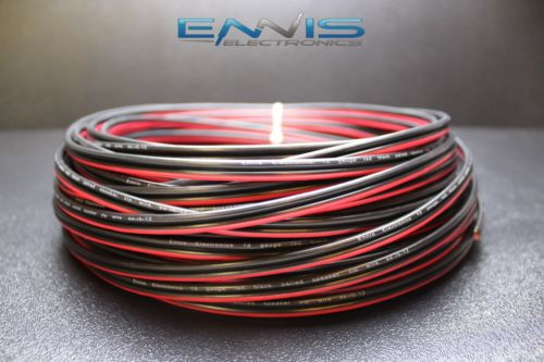 12 GAUGE RED BLACK SPEAKER WIRE 100 FT AWG CABLE POWER GROUND STRANDED COPPER