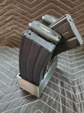 .223 5.56 magazine stand rack mag storage 5 slot safe ammo shelf 223 556 Black