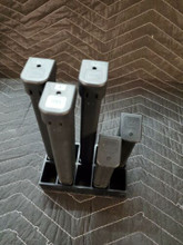 10 slot glock 17 19 mag holder magazine storage 9mm 40 cal rack safe shelf black