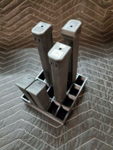 20 slot glock 17 19 mag holder magazine storage 9mm 40 cal rack safe shelf black
