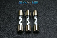 3 PACK 60 AMP AGU FUSE FUSES NICKEL PLATED INLINE HIGH QUALITY GLASS NEW AGU60