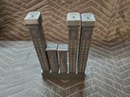 5 slot glock 17 19 mag holder magazine storage 9mm 40 cal rack safe shelf black