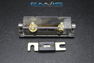 (1) PACK 0 2 4 6 8 GAUGE ANL FUSE HOLDER W/ (1) 80 AMP GOLD WAFER FUSES WIRE