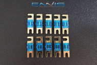 (10) 100 AMP MINI ANL FUSES GOLD PLATED INLINE AFC AFS BLADE AUTO HOLDER MANL100