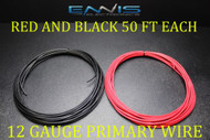 12 GAUGE WIRE 100 FT ENNIS ELECTRONICS 50 RED 50 BLACK PRIMARY AWG COPPER CLAD