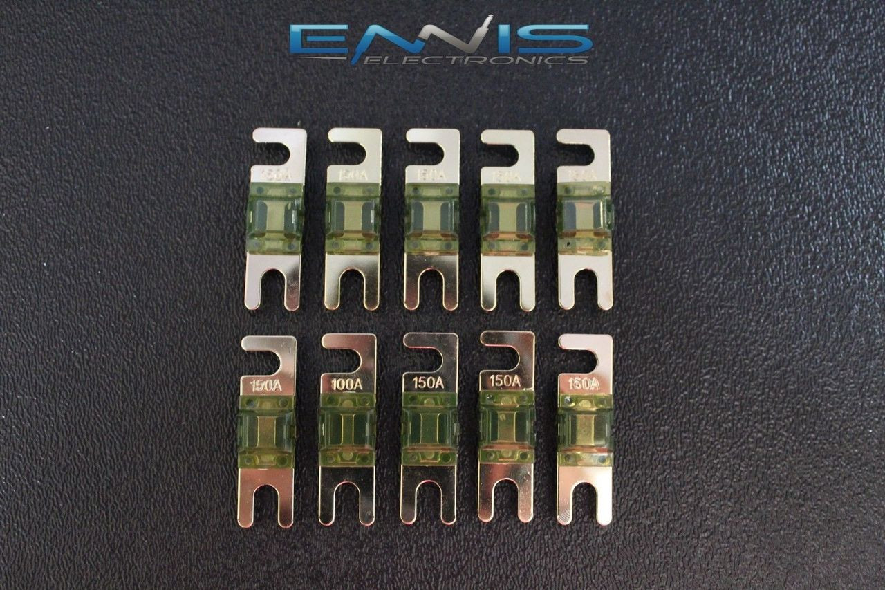 5 Pack 150 AMP Mini ANL FUSES Gold Plated Inline AFC AFS Blade AUTO Holder MANL150