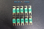 (10) 20 AMP MINI ANL FUSES GOLD PLATED INLINE AFC AFS BLADE AUTO HOLDER MANL20