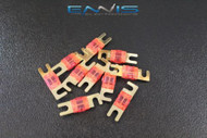 (10) 30 AMP MINI ANL FUSES GOLD PLATED INLINE AFC AFS BLADE AUTO HOLDER MANL30