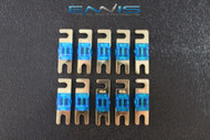 (10) 40 AMP MINI ANL FUSES GOLD PLATED INLINE AFC AFS BLADE AUTO HOLDER MANL40