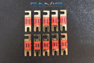 (10) 50 AMP MINI ANL FUSES GOLD PLATED INLINE AFC AFS BLADE AUTO HOLDER MANL50