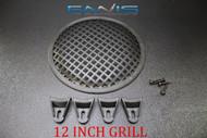 12 INCH STEEL SPEAKER SUB SUBWOOFER GRILL MESH COVER W/ CLIPS SCREWS GLKT-12