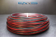 14 GAUGE 25 FT RED BLACK SPEAKER WIRE AWG CABLE POWER STRANDED COPPER CLAD EE