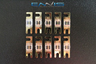 (10) 80 AMP MINI ANL FUSES GOLD PLATED INLINE AFC AFS BLADE AUTO HOLDER MANL80