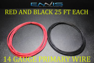 14 GAUGE WIRE 50 FT ENNIS ELECTRONICS 25 RED 25 BLACK PRIMARY AWG COPPER CLAD