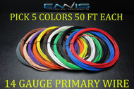 14 GAUGE WIRE ENNIS ELECTRONICS 50 FT EACH PRIMARY CABLE AWG COPPER CLAD 5 ROLLS